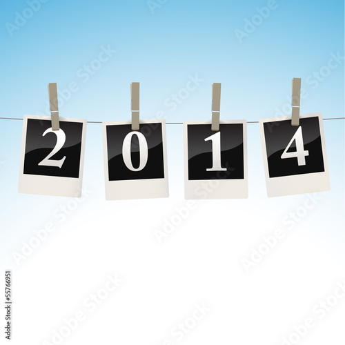 2014 on snapshots on a clothesline- illustration