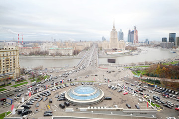 Novoarbatsky Bridge, Hotel Ukraine (Stalin skyscraper)