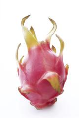 Drachenfrucht, Freisteller, weißer Hintergrund