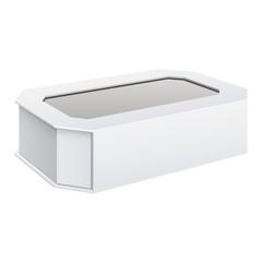 Realistic Cardboard Sliding Box with window.