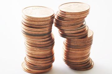 Haufen von Euro-Cents