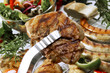 Gegrilltes Steak, Nahaufnahme