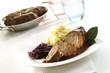 Rinderroulade mit Rotkohl und Kartoffelpüree