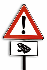 Krötenwanderung, Zeichen