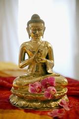 Messing Buddha Statue, Nahaufnahme
