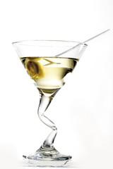 Martini Cocktail mit Oliven, Nahaufnahme