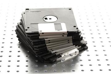 Gestapelte Disketten