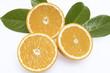 Orangenhälften, Nahaufnahme