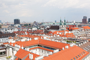 View of Vienna from St. Stephane's cathedral. Austria