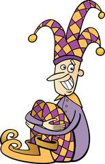 jester clip art cartoon illustration