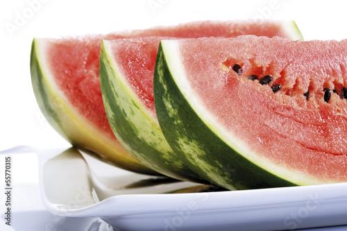Geschnitten Wasser melone