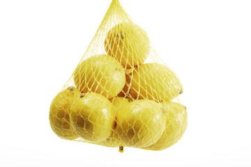 Zitronen in einer Netto-Nahaufnahme