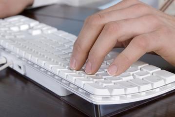 Eingabe auf der Tastatur, Nahaufnahme