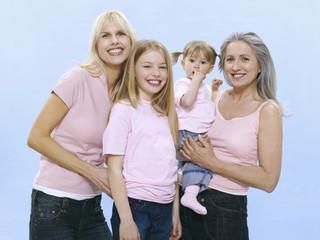 Großmutter, Mutter und Töchter, Portrait