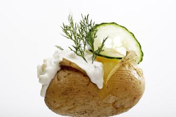 Kartoffel in der Haut, Nahaufnahme