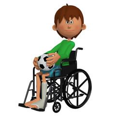 Child sitting in the wheelchair