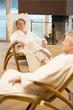 Älteres Ehepaar im Bademantel, Portrait