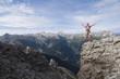 Österreich, Salzburger Land, junger Mann, Jubel