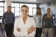 Vier Geschäftsleute im Büro