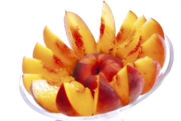 Geschnittener Pfirsich
