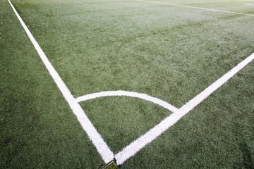 Eck-Kennzeichnung auf Fußballfeld