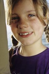 Mädchen lächelnd, Nahaufnahme, Portrait