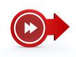 scroll arrow icon on white background