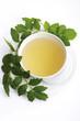 Baldrian Tee, erhöhte Ansicht, Nahaufnahme