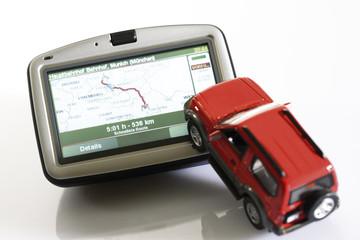 Navigationsgerät und Rover Fahrzeug Figur
