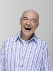Älterer Mann, lachend, Porträt