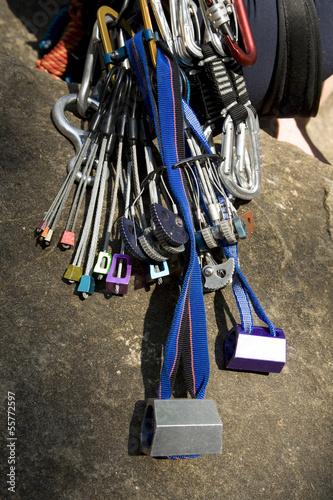 Person mit Bergsteigerausrüstung