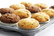 Muffins auf Muffinblech
