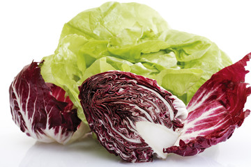Raddichio und Salat