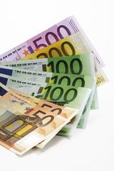 Euro-Banknoten, Nahaufnahme
