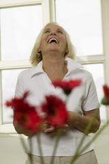 Ältere Frau, lachen, freuen sich, Portrait