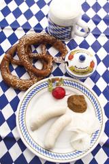 Bayerische Weisswuerste, typische lokale Delikatesse