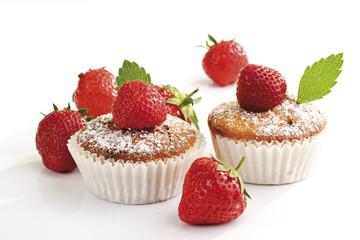 Erdbeer-Muffins, Nahaufnahme