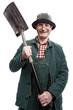 Alter Mann mit Schaufel