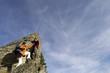 Paar steigt auf den Gipfel