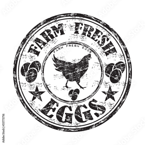 Farm fresh eggs stamp
