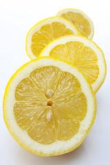 Zitronenscheiben, Nahaufnahme