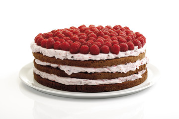 Himbeere-Sahne-Torte, Nahaufnahme