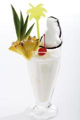 Pina Colada Cocktail, Nahaufnahme
