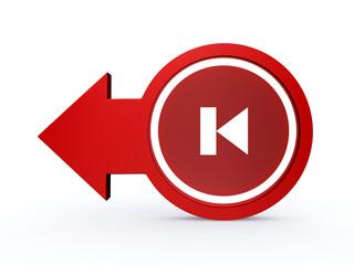 prev arrow icon on white background