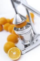 Obst Presse und Orangen