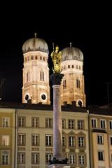 Deutschland, Bayern, München, Statue der Jungfrau Maria