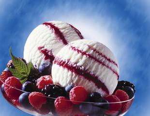 Wilde Beeren-Joghurt-Eis, Nahaufnahme