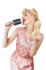 Retro girl singer