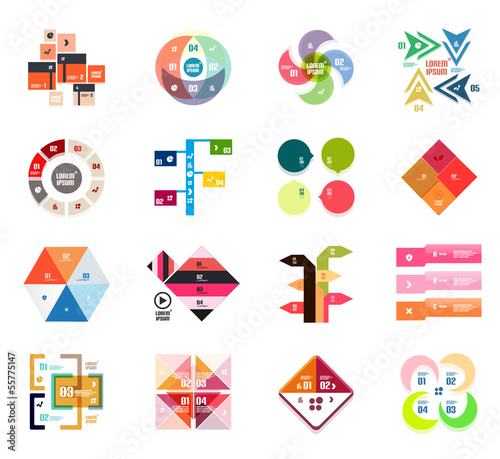Set of modern infographic design templates