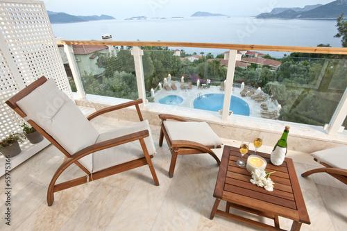 Deurstickers Oost Europa sea views from hotel room